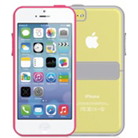 MacAlly Hardshell Case with Stand for iPhone 5c - Gray/Clear