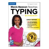 Encore Software Mavis Beacon Teaches Typing Powered by UltraKey: Family Edition (PC / MAC)