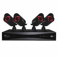 Night Owl 4 Channel Digital Video Recorder (DVR) and 4 x Security Cameras with 50ft Night Vision