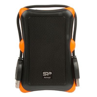 "Silicon Power Rugged Armor A30 1TB USB 3.0 Shockproof 2.5"" External Portable Hard Drive - Black"