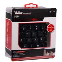 Vivitar Rollable Rubber Keyboard - Black