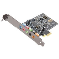 Creative Labs Sound Blaster Audigy FX PCIe 5.1 Channel Surround Sound Card