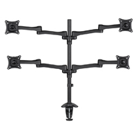 "AVF Quad Head Multi Position Desk Mount for 13"" to 27"" Monitor"