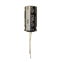 MCM Electronics MC10-0016 2200UF 25V Radial Capacitor - 2 Pack
