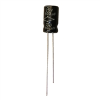 MCM Electronics MC10-0040 100UF 25V Radial Capacitors - 2 Pack