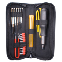 QVS 23-Pcs Computer Maintenance Tool Kit with Precision Screwdrivers
