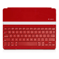 Ultrathin Blutooth Keyboard/Protective Case for iPad 1/2/3 - Red