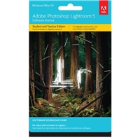 Adobe Lightroom 5 Student Edition Download Card (PC)