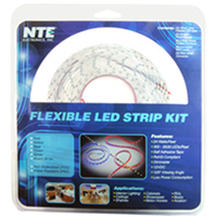 NTE Electronics 16' Amber LED Strip Kit with Power Supply