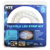 NTE Electronics LED Strip Kit - Blue