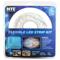 NTE Electronics LED Strip Kit - White
