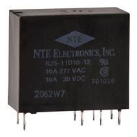 NTE Electronics R25-11D10-12 10Amp PC Mountable Relay