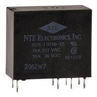 NTE Electronics R25-11D10-12 10Amp PC Mountable Relay