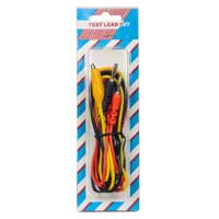 Velleman TEST LEADS - BANANA PLUG / BOOTED ALLIGATOR PLUG