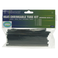 Velleman HEAT-SHRINKABLE TUBE KIT - 40pcs- BLACK