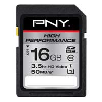 PNY 16GB Class 10 Secure Digital High Capacity (SDHC) Flash Media Card P-SDH16G10H-GE