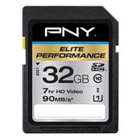 PNY Elite Performance 32GB Class 10 Secure Digital High Capacity (SDHC / UHS-I) Flash Media Card P-SDH32U1H-GE