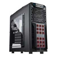 Inwin GT1 ATX Mid-Tower Computer Case - Black/Red