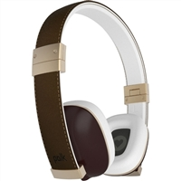 Polk Audio Hinge Headphones with Microphone - Brown
