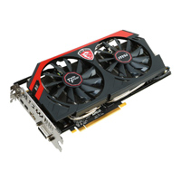 MSI R9280XGAMING3G AMD R9 280X Gaming 3G Twin Frozr 3072MB PCIe x16 3.0 Video Card