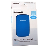Matsunichi Inc. 1TB PORTABLE USB 3.0 BLUE