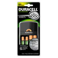 Duracell 1 Hour 4 Position AA/AAA NiMH Battery Charger Includes 2 x AA and 2 x AAA NiMH 2400mAh Batteries
