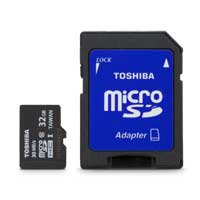 Toshiba Micro 32GB Secure Digital Class 10 UHS-I Memory Card