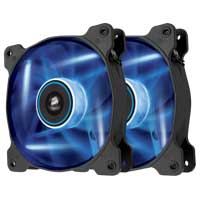 Corsair Air Series AF120 LED Blue Quiet Edition Case Fan Twin Pack