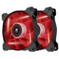 Corsair Air Series AF120 LED Red Quiet Edition Twin Pack