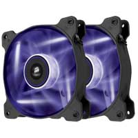 Corsair Air Series AF120 LED Purple Edition 120mm Case Fan Twin Pack