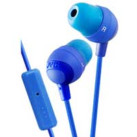 JVC Marshmallow Inner-Ear Earbuds With Microphone & Remote - Blue