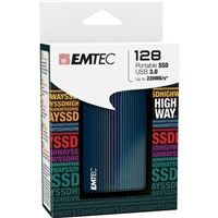 Emtec International X500 Highway 128GB USB 3.0 Solid State Drive ECSSD128GX500