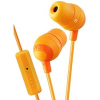 JVC Marshmallow Inner-Ear Earbuds With Microphone & Remote - Orange