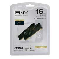 PNY DDR3-1600 (PC3 12800) Dual Channel Desktop Memory Kit (2 x 8GB) Memory Modules
