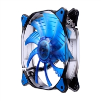 H.E.C. Cougar CFD12HBB 120mm Ultra Silent Case Fan - Blue LED