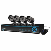 Swann Communications DVR4-4200 4 Channel Digital Video Recorder (DVR) and 4 x PRO-535 Security Cameras with 82ft Night Vision