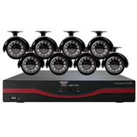 Night Owl 8 Channel DVR with 500GB Hard Drive 8 x Indoor/Outdoor Night Vision Cameras