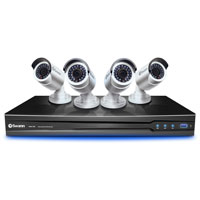 Swann Communications SWNVK-872004-US High Definition NVR and 4 x NHD-820 4mm CMOS Security Cameras with 115 ft Night Vision