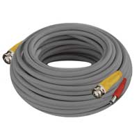 Night Owl 100ft CAB-24AWGG-100VP BNC Video/Power Camera Extension Cable with Adapter