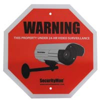 SecurityMan 2 Pack Surveillance Warning Sings - English