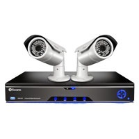 Swann Communications SWHDK-681002 Hybrid SDI Hybrid Video Recorder and 2 x SDI 4mm CMOS Security Cameras with 115 ft Night Vision