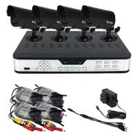 Zmodo H.264 8-Channel Network DVR with 4 Night Vision Cameras 500GB Hard Drive with Internet and Smart Phone Access