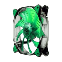 H.E.C. Cougar CFD12HBG 120mm Ultra Silent Case Fan - Green LED