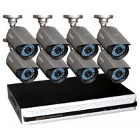 Q-See QS4816-885-1 Premium 16 Channel CIF DVR with 8 x High-Resolution Security Cameras and 1TB Hard Drive