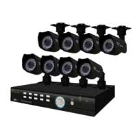 Night Owl 8 Channel H.264 Complete Video Security Kit with 8 Vandal Proof Night Vision Cameras, D1 Recording, 500GB Hard Drive & Internet, Smartphone and Tablet viewing