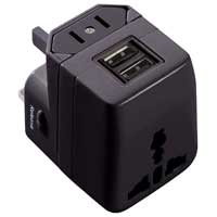 TekPower Dual USB WorldPlug Universal Adapter
