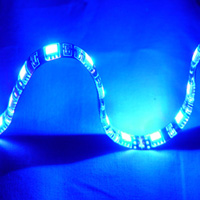 "Logisys 12"" Blue 18 LED Molex Self-adhesive Flexible & Extendable Strip"