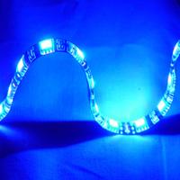 "Logisys 12"" Blue 18 LED Molex Self-adhesive Flexible & Extendable Strip"