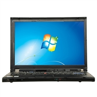 "Lenovo ThinkPad T400 Windows 7 Professional 14.1"" Laptop Computer Refurbished - Black"