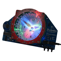 Evil Mad Science Bulbdial Clock Kit - Clear/Black